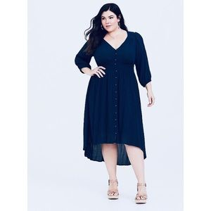 🌻torrid smocked gauze shirt midi dress🌻